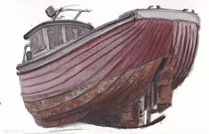 Lute Sterned Boat